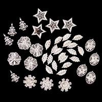 Dawn Bibby Set of 40 Metal Christmas Embellishments-192338