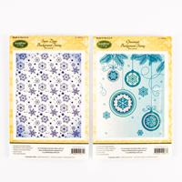 JustRite® 2 x Background Stamps - Ornament & Snow Days-193737