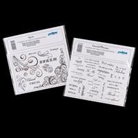 Creative Expression 2 x A5 Stamp Plates - Swirl & Fanciful Phrase-193834