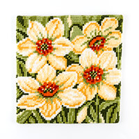 Stitch Kits Spring Daffs Cross Stitch Cushion Front Kit-197960