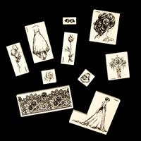 LaBlanche™ Set of 10 Premounted Stamps - Wedding-198613