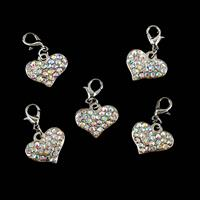 Impressions Crafts 5 x Heart Rhinestone Pendants-199488
