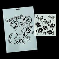 Imagination Crafts A4 Art Stencil - Flourish and 6x6