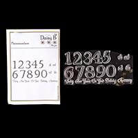 Nina Crafts Plainanumbers & Extras Stamp Sets - 19 Stamps-201210