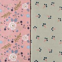 Threaders Rose Blossom (Grey) & Rose Garden Fabric-202583