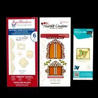 Set of 3 Die Sets - Lattice Accents, Christmas Joy & Decorative C-203472