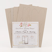 Which Craft? Grey Board Set 1 - Quirky Hearts and Tags & Bunting-204322