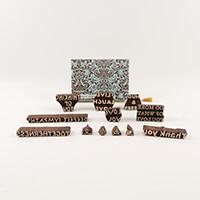 Colouricious Sentiments - 12 Wooden Blocks-204565
