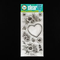 Impression Obsession Floral Heart Stamp Set-204688