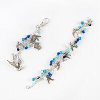 Aldridge Crafts Bead & Charm Bracelet Kit with Bag Charm - Bluebi-208473