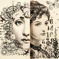 IndigoBlu Pick n Mix 2 x Printed Panel 15x15cm - Cotton Canvas-209628