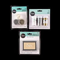 Sizzix® Accessory Set - 3 x Embossing Powders, Glitter & Clear In-211133