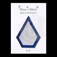 "Daisy & Grace 'Quilt as you go' Jewel template -  1 1/4""-211712"