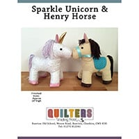 Quilter's Trading Post Sparkle Unicorn & Henry Horse Pattern-212008