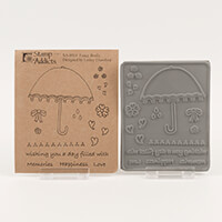 Stamp Addicts Fancy Brolly Cling Mounted Rubber Stamps-212185