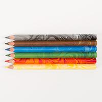 Koh-I-Noor® Set of 6 Jumbo Triangular Coloured MAGIC Pencils-212632