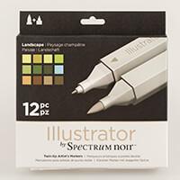 Spectrum Noir Illustrator 12 Pens - Landscape-212957