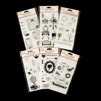 Set of 6 Clear Acrylic Stamp Sets - What A Day, Vintage Room, A L-213864