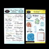 JustRite® 2 x Stamp Sets - At The Beach & Mix and Match Sentiment-214671