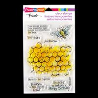 Stampendous Honeycomb Wishes Stamp Set - 8 Stamps-216078