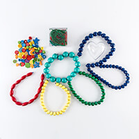 Applicraft Beads & Bits Bundle - Wooden Beads, Embellishments, St-217633