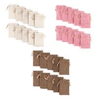 Craft Buddy 10 Coloured Hessian Bags Pick n Mix Choose 3 - 30 In -219288