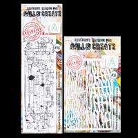 AALL & Create Stamp and Stencil Set - Industrial Scripts and Wick-220774