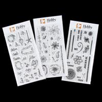 Hobby Art 3 x Clear DL Stamp Sets - Journal Bold, Scribble and Wo-221639