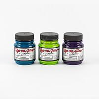 Jacquard Dye-Na-Flow - Cool Colours - 3 x 70ml Paint Pots - Turqu-221717