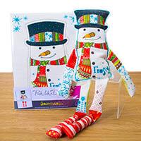 Pink Ink Designs Snowman Beanie Doll-221746