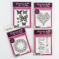 Stamps by Chloe Flower, Butterfly & Heart Stamp Collection - 15 S-222704