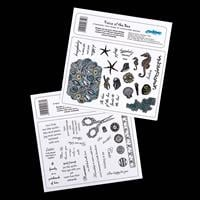 Creative Expressions 2 x Stamp Plates - Sewing Elements & Voice o-223609