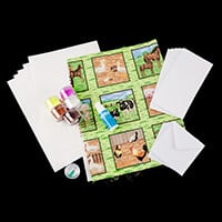 Glitter Magic 3D Fabric Decoupage Kit - On The Farm-226366