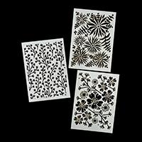 Dawn Bibby A5 Fantasy Flower 2018 Stencils Pick-n-Mix - Choose 3-226371