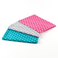 Perfect Occasions Set of 3 100% Cotton Fabrics - Turquoise & Pink-226524