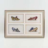 Thea Gouverneur Vintage Shoes Cross Stitch Kit on Aida-230460