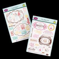 JustRite ® 2 x Stamp Sets - Home Bakery Labels & Cupcake Celebrat-231991