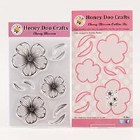 Honey Doo Crafts Cherry Blossom Collection - Stamp Set & Outline -232037