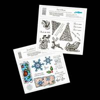 Creative Expressions 2 x Stamp Plates - Let It Snow & Snowflakes -232885