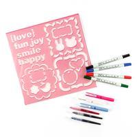 Kuretake Writer's Collection - 4 x Dual Tip Pens, 3 x Cocoiro Bod-234295