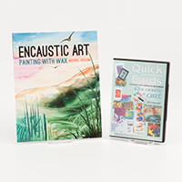 Encaustic Art Quick Cards DVD & Painting with Wax 64 Page Book by-234379