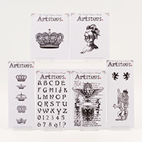 Bee Crafty Art Stamps - Heraldic Collection 1-237144