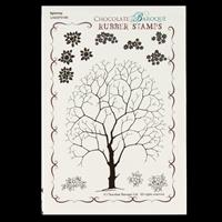 Chocolate Baroque Spinney Design a Tree A6 Stamp Sheet - 12 Image-237210