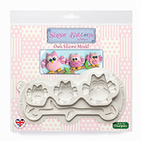 Sugar Buttons Owls Silicone Mould-238502