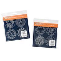 Groovi Plates A5 Square Duet - Josie's Parchment Trading Coins-239336