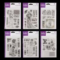 Crafter's Companion 6 x Clear Acrylic Stamp Sets - Roaring Twenti-240059