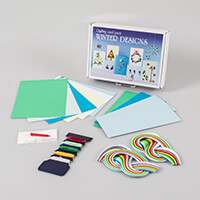 Winter Greetings Cards Kit - Includes Patterns, Quilling Papers,T-241905