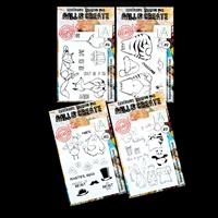 AALL & Create 4 x Stamp Sets - Crazy Fox, Meeow, Party Animal and-241952