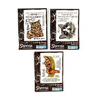 Sheena A Little Bit Sketchy A6 Stamp Sets - Cat Nap, Shabby Cat a-242230