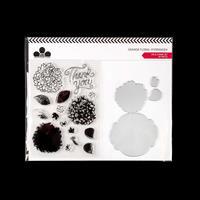 Craftwork Cards Grande Floral Die and Stamp Set - Hydrangea - 4 D-242529